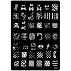 Körömnyomdás sablon gravírozott mintákkal - 006, XL