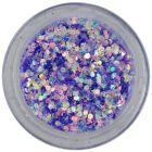 Világoslila konfettik, 1mm - hatszögek csillámporban