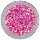 Holografikus hatszög csillámporban - élénkrózsaszín, 1mm
