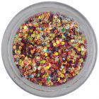 Holografikus hatszögek - 1mm konfettik sötétpiros porban