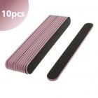 10db- Reszelő fekete rózsaszín középpel, 100/180 - egyenes