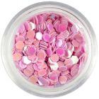 3mm visszfényes világos rózsaszín flitterek - hatszögek