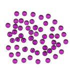 Nail art körömdíszek 1,5mm - 90db kör alakú lila kövecskék