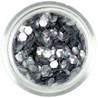 Hologrammos konfettik, 3mm - ezüst hatszögek