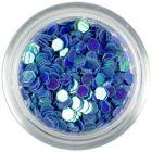 3mm visszfényes flitterek - kék hatszögek