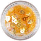 Áttetsző lyukas konfettik - narancssárga négyzetek
