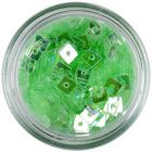 Áttetsző lyukas konfettik - világoszöld négyzetek