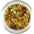 Holografikus négyzet - arany lyukas dísz