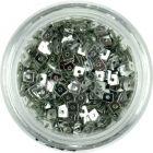 Kis lyukas négyzetek - ezüst