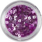 Kicsi lyukas négyzetek - rózsaszínes lila