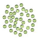 Zöld körömdíszek, 1mm - gömbölyű kövek tasakban, 60db