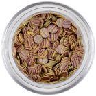 Flitter - bézs, lila csíkok