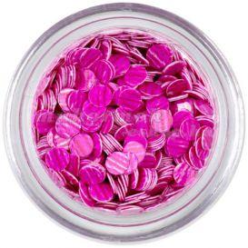 Flitter - rózsaszín, sötét rózsaszín csíkok
