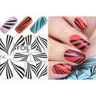 Luxus vizes matrica – Black & White Zebra Stripes