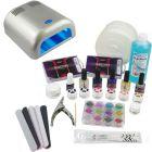 1-fázisú rendszer - UV zselé készlet, 36W ezüst UV lámpa