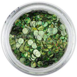 Flitter - olivazöld, hologramm