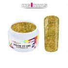 UV zselé, színes - Gold Glitter 5g