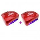 2 x Piros LED lámpa - 66W