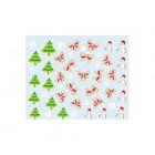Körömmatrica karácsonyi mintákkal - 041
