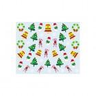 Körömmatrica karácsonyi mintákkal - 037