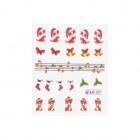 Vizes matrica karácsonyi mintákkal - 027