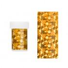 Körömdíszítő fólia - arany csillogó formákkal