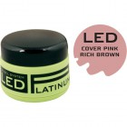 COVER PINK - kamuflázs LED zselé - RICH BROWN PINK, 40g