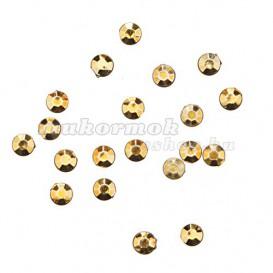 Körömdíszítő kő 1,5mm - 20db, aranysárga