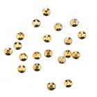 Körömdíszítő kő 1,5mm - 20db, aranysárga/strasszkő