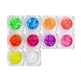 Körömdísz készlet – 10db – körök neon színben