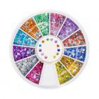 Nail art díszek –kör körömdíszítő kő 2mm – több színben/strasszkő
