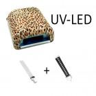 Kombinált LED UV lámpa, állatmintás – 36W