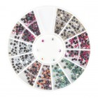 Nail art ozdoby – kamienky 2mm - rôzne farby s AB efektom
