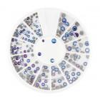 Nail art körömdíszítő kő, mix – kék