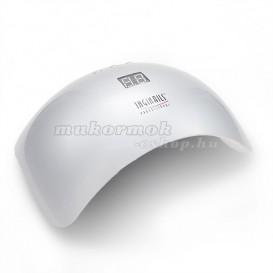 Kombinált LED UV lámpa zselés körmökre, ezüst - 48W