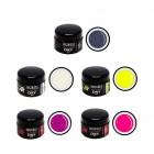 DRY színes UV zselé, 5db - neon