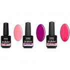 UV gél lakk készlet, 3db - lilás-rózsaszís