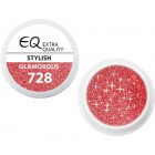 Extra Quality GLAMOURUS színes UV zselé - STYLISH 728, 5g