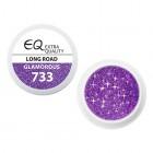 Extra Quality GLAMOURUS színes UV zselé - LONG ROAD 733, 5g
