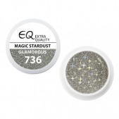 Extra Quality GLAMOURUS farebný UV gél - MAGIC STARDUST 736, 5g