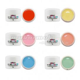 6db-os szett - színes pasztell UV zselék