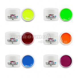 Neon színes zselék - 6db-os szett