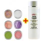 Glitter Color II. szett 6db + Acryl Liquid 100ml INGYEN