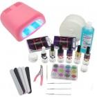 1-fázisú rendszer - UV zselé készlet nagy, 36W rózsaszín UV lámpa