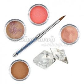 Natural glitter készlet - színes porcelánpor készlet