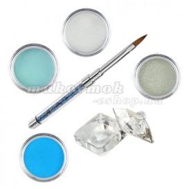 Blue-Green készlet - színes porcelánpor készlet