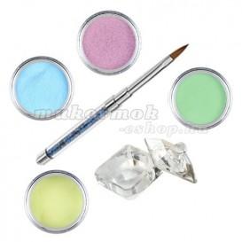 Pastel készlet - színes porcelánpor készlet
