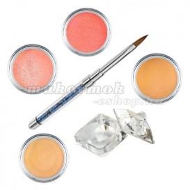 Orange készlet - színes porcelánpor készlet