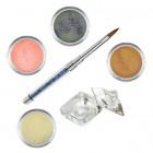 Glitter készlet- színes porcelánpor készlet