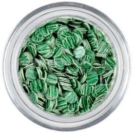 Flitter - zöld, sötétzöld csíkok
